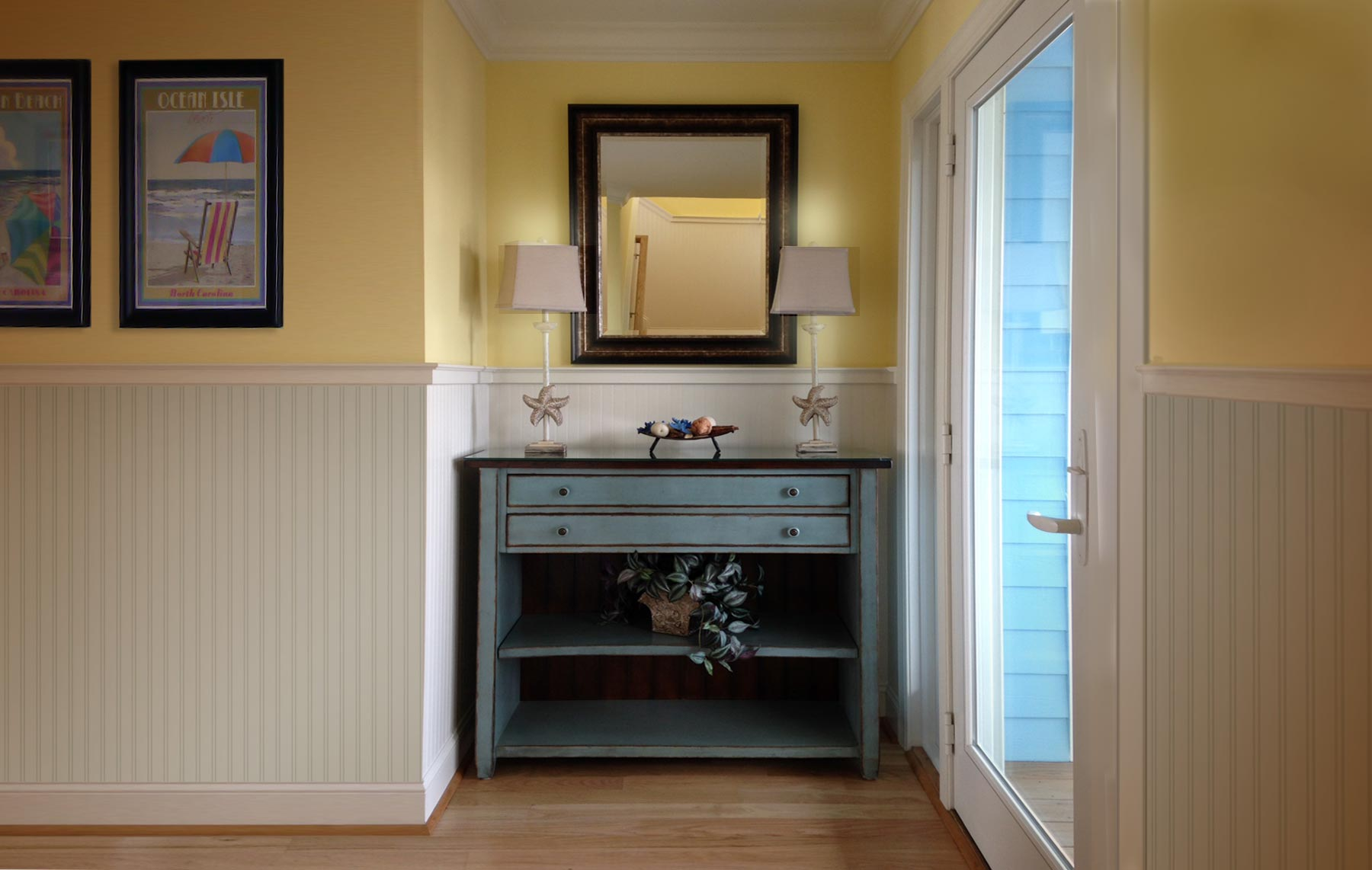 "Vintage Construction pays attention to creating interesting ""vignettes"" at transition points in the home.."