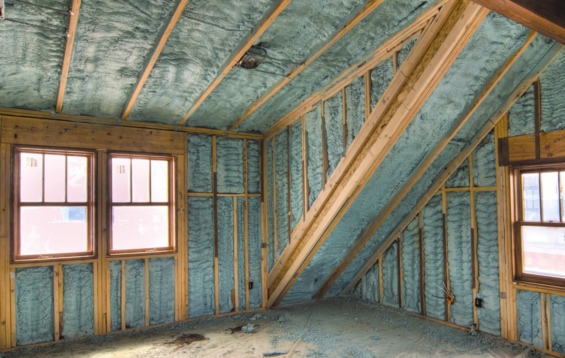 State-of-the-art spray foam insulation creates a more comfortable living space and reduces utility bills.