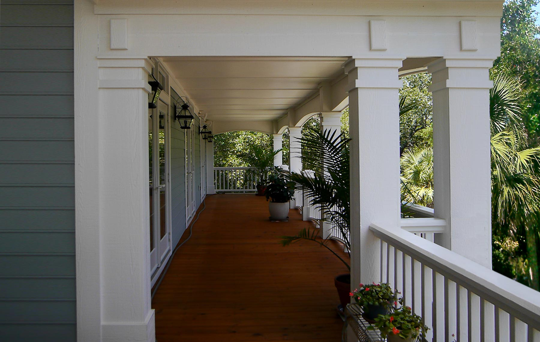 The veranda is still a time-honored tradition in the south.